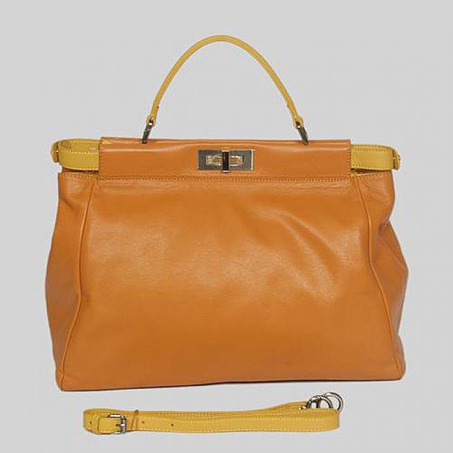 5815c351a1 Fendi Camel kožená kabelka